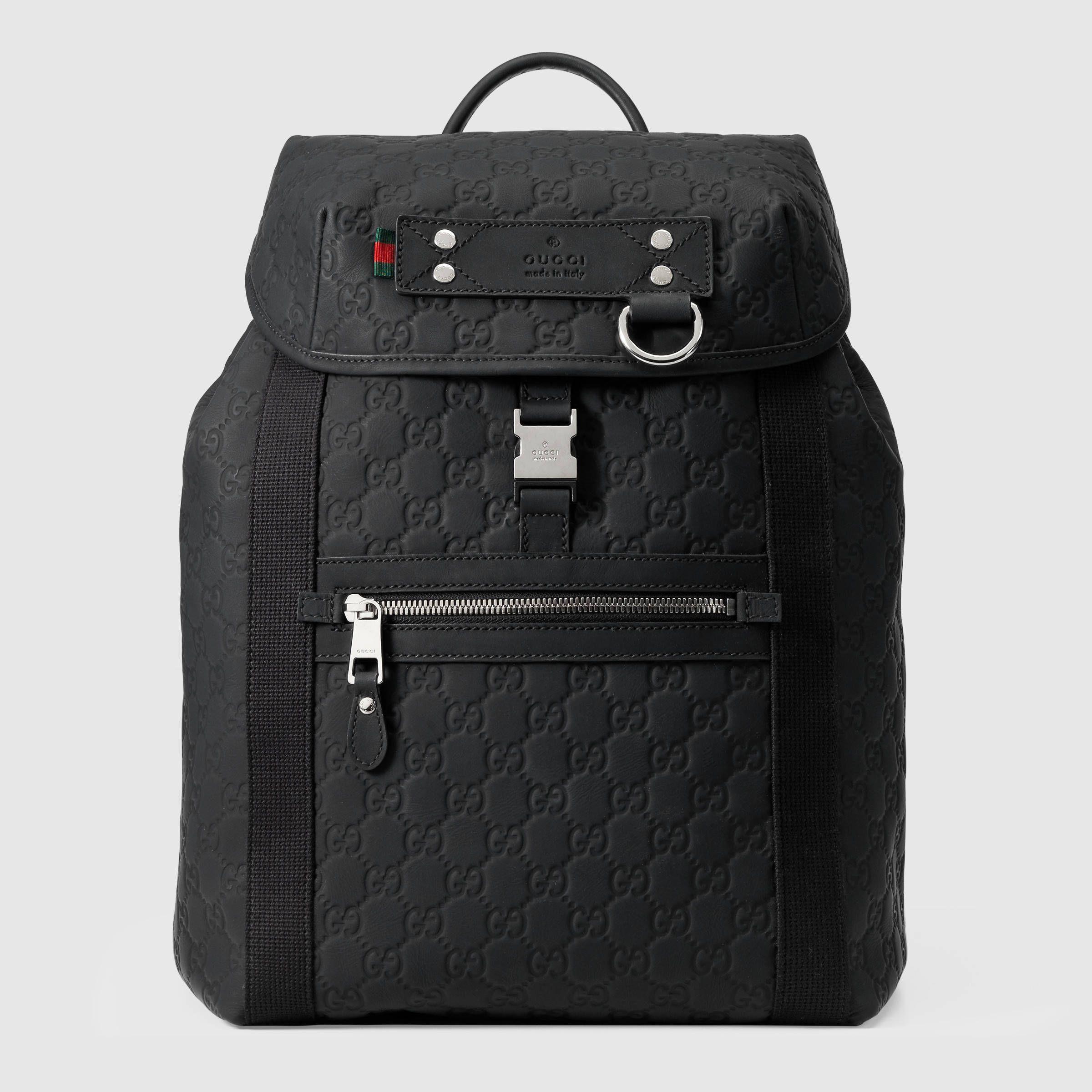 a79bfd803f6 Gucci Guccissima Rubberized Backpack