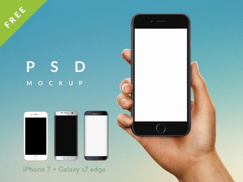 Iphone Mockup In Hand Iphone Design Freebie Iphone 7