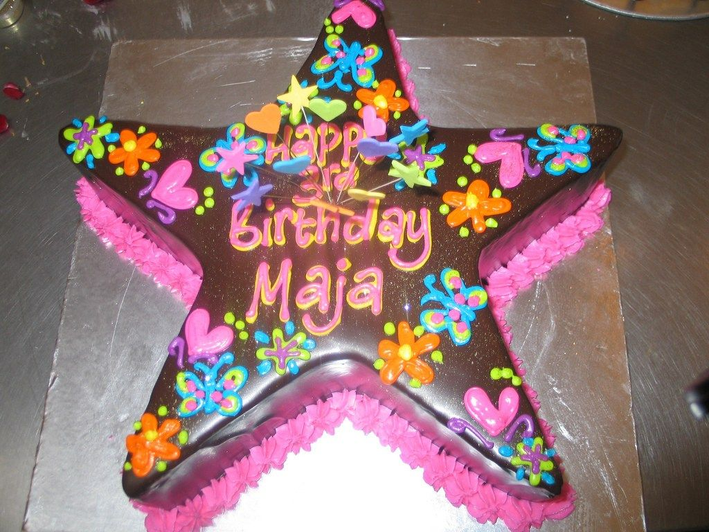 23 Great Image Of Heb Birthday Cakes Star Cake Ganache Bright Piped Designs A Photo On