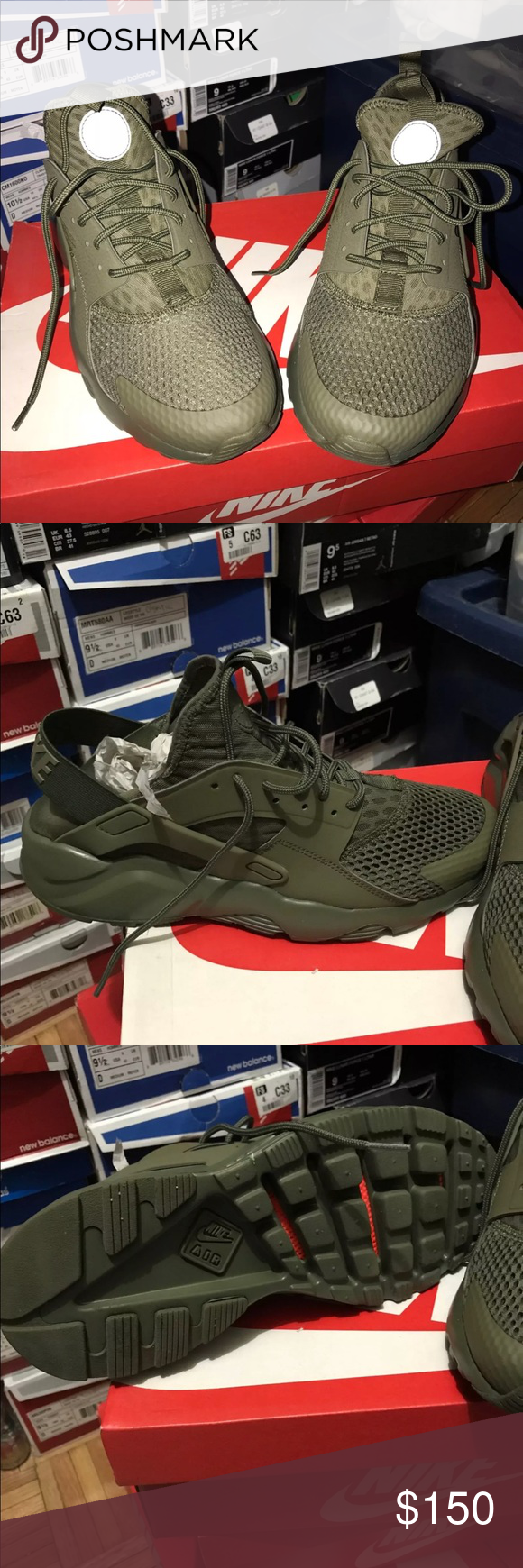 premium selection 027b2 07119 Hunter green Huaraches Hunter green Huaraches. Brand New ...