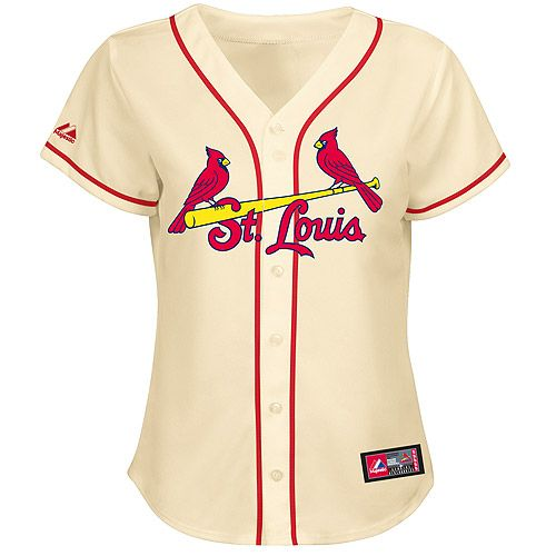 buy popular a37e9 78150 St. Louis Cardinals Women's Alternate Replica Jersey by ...