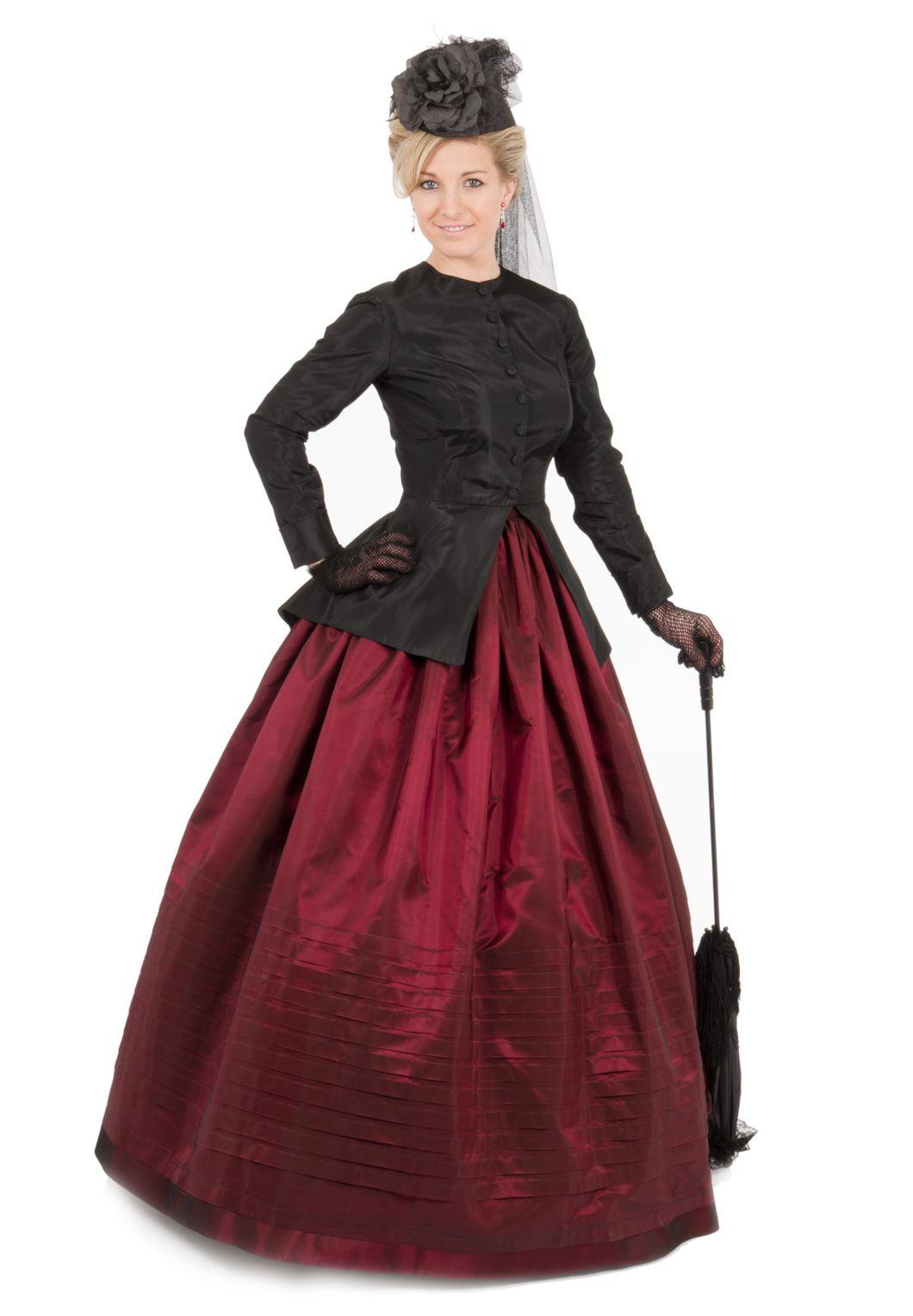 Victorian Black Jacket And Pleated Skirt Civil War Dress Victorian Dress Fashion [ 1528 x 1060 Pixel ]