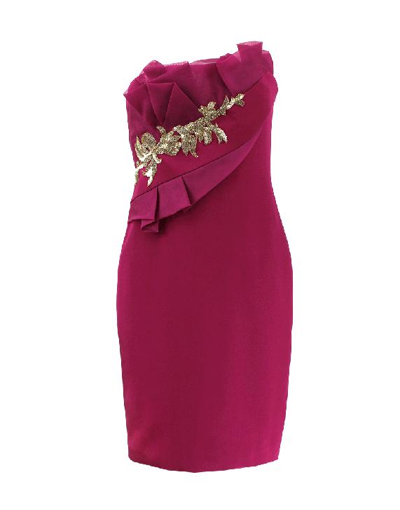 Strapless Draped Bodice Dress | NOTTE BY MARCHESA