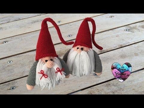 Tutorial Elfi Amigurumi : Gnome de noël amigurumi crochet papa ristmas gnome english