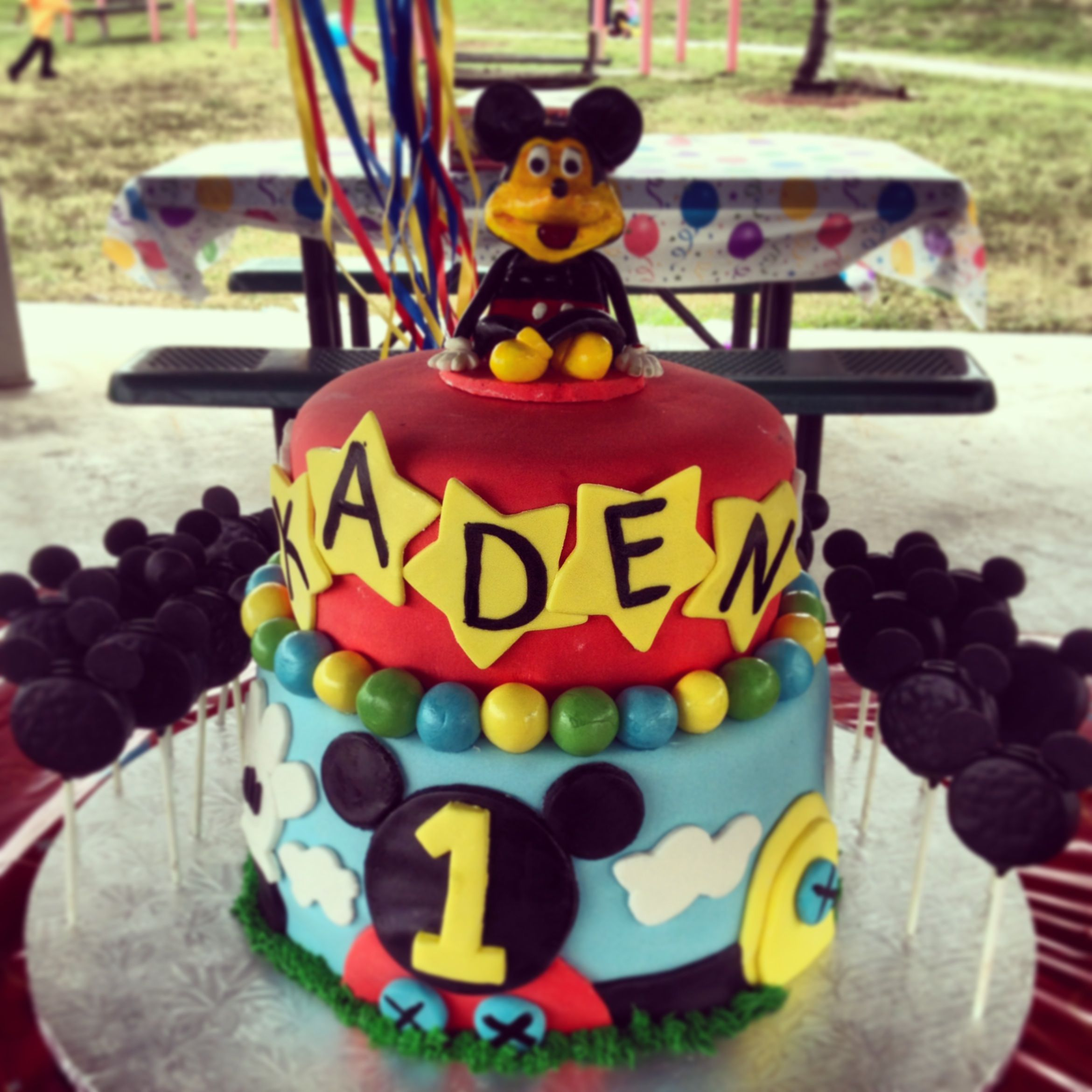 Mickey mouse cake decorations from scratch all handmade and homemade