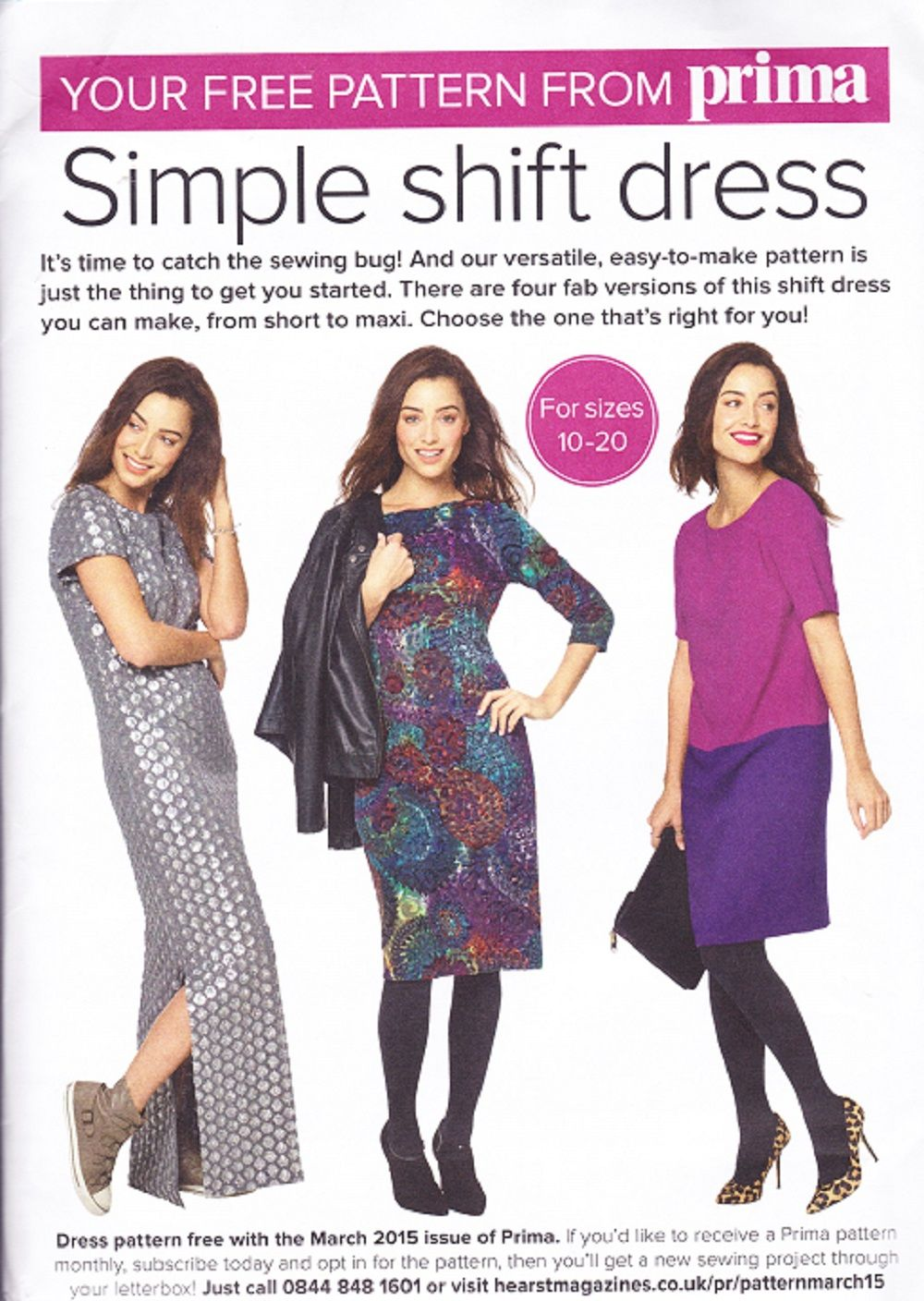 Prima sewing pattern march 2015 ladys simple shift dress prima sewing pattern march 2015 ladys simple shift dress ombrellifo Gallery