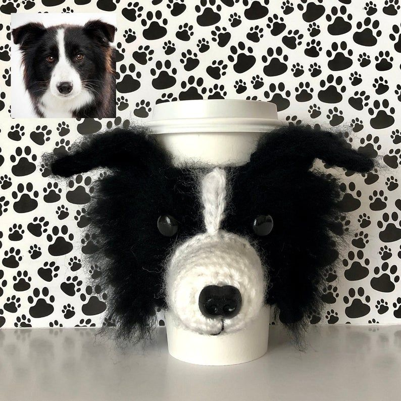 Border Collie Mug Cozy Border Collie Gifts Crochet Mug Cozy