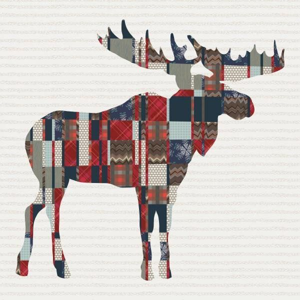 Bring the feel of the outdoors in with our mighty moose quilt ... : moose quilt pattern - Adamdwight.com
