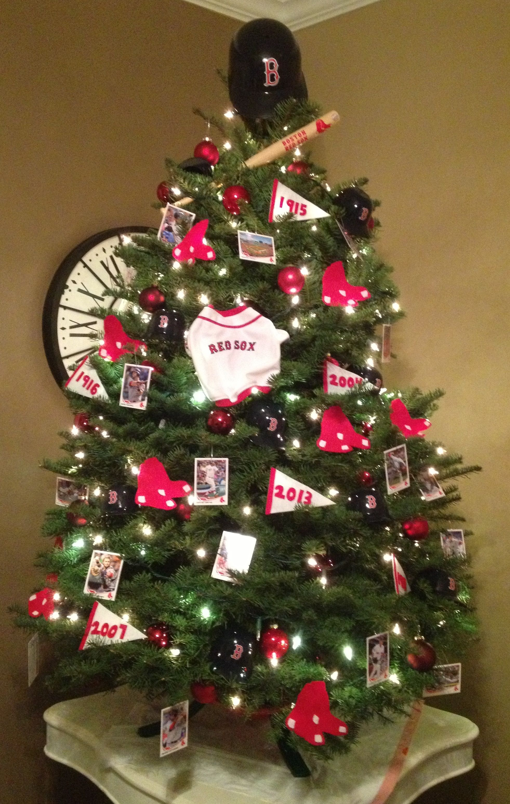 Red Sox Christmas Tree redsox bostonstrong Red