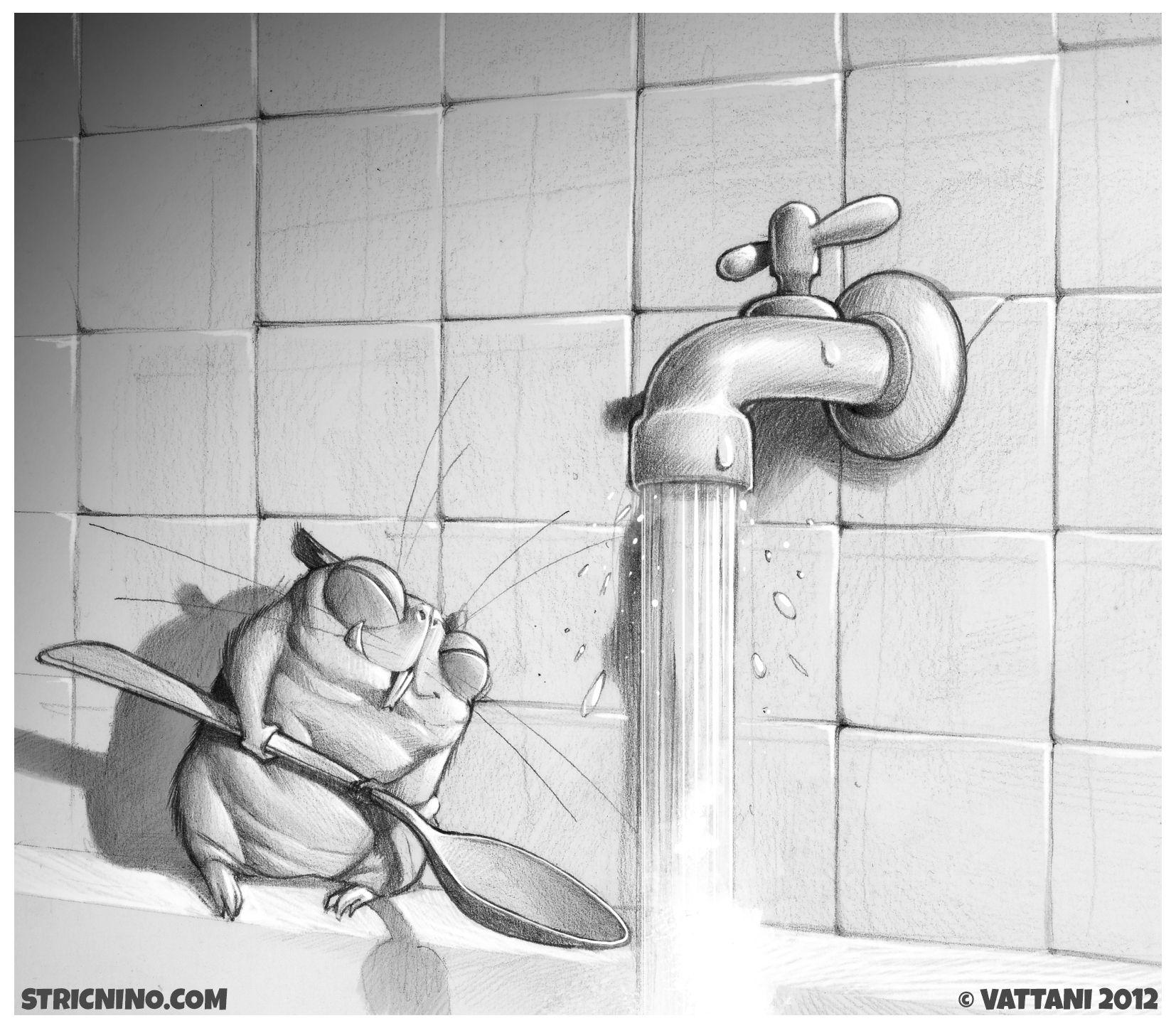 Episode 010 - #sketch #illustration #art #hamster #animals #mouse #hate #badboy #stricnino #water #disaster