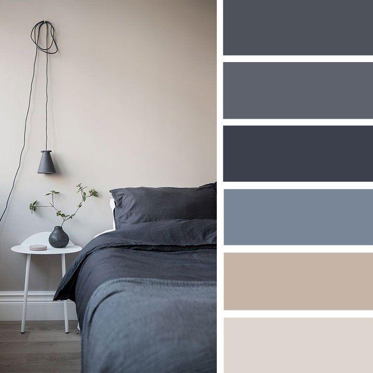 Charcoal Blue Color Palette For Bedroom Decor Bedroom Colorpalette Colorscheme Vnutrennie Cvetovye Shemy Cveta Krasok Interer Sinie Gostinye