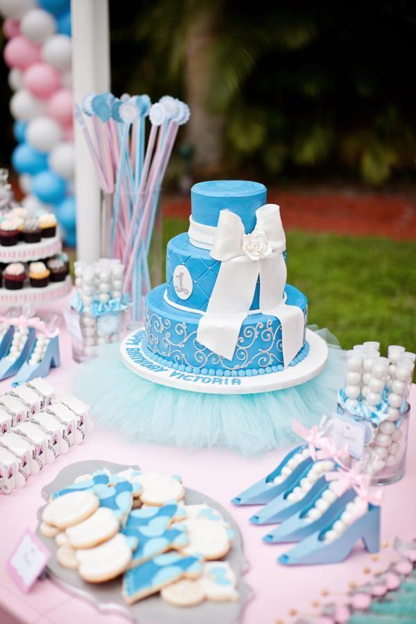 Disney Princess Cinderella Girl 1st Birthday Party Planning Ideas Cinderella Birthday Cinderella Party Cinderella Birthday Party