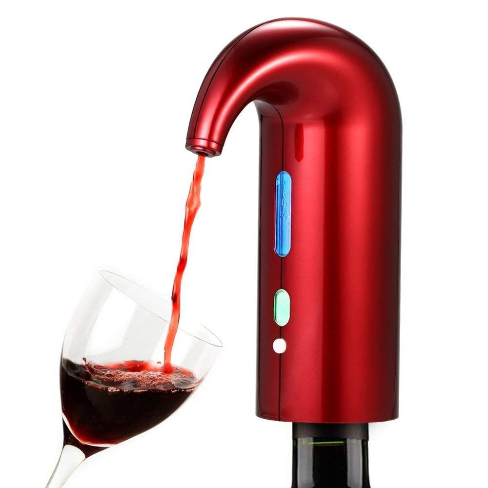 Amazon Com Electric Wine Aerator Pump One Touch Automatic Wine Decanter And Pourer Instant Decanting Breathing Wi Wine Aerators Wine Decanter Wine Dispenser