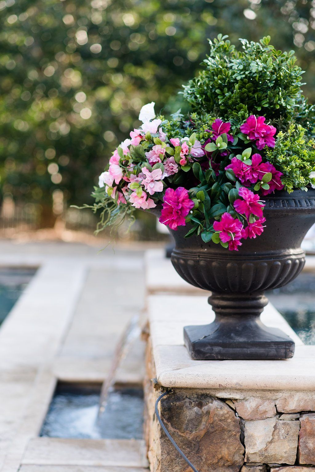 How To Fill An Outdoor Planter With Artificial Flowers Artificial Flower Arrangements Outdoor Flower Planters Outdoor Planters