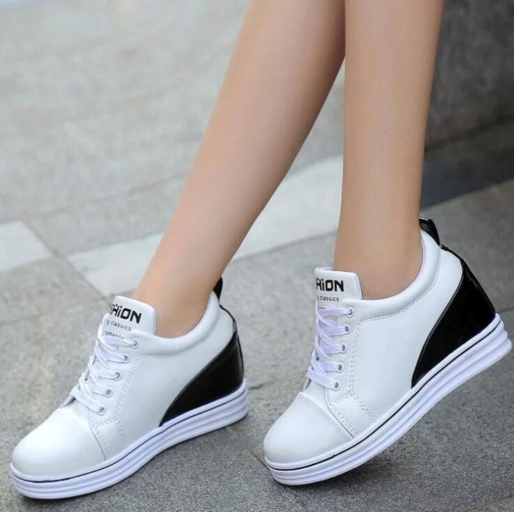 Women's Korean Fashion Casual Sport Insole Height Increased Wedge Shoes