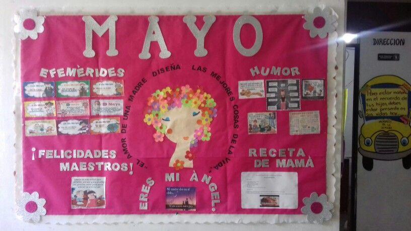 Periodico Mural Del Mes De Mayo En Preescolar