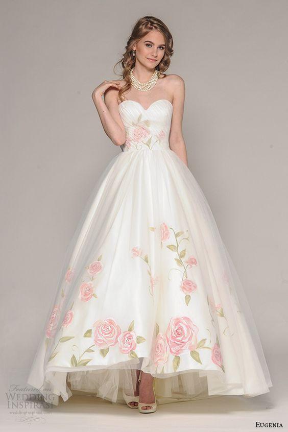 30 floral wedding dresses you can shop now romantic weddings pinterest brautkleid. Black Bedroom Furniture Sets. Home Design Ideas
