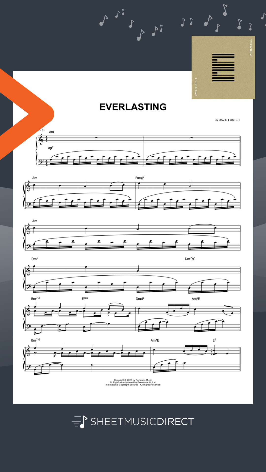 Download Official Everlasting Sheet Music By David Foster Arranged For Piano Solo In 2020 Sheet Music Digital Sheet Music Sheet Music Direct