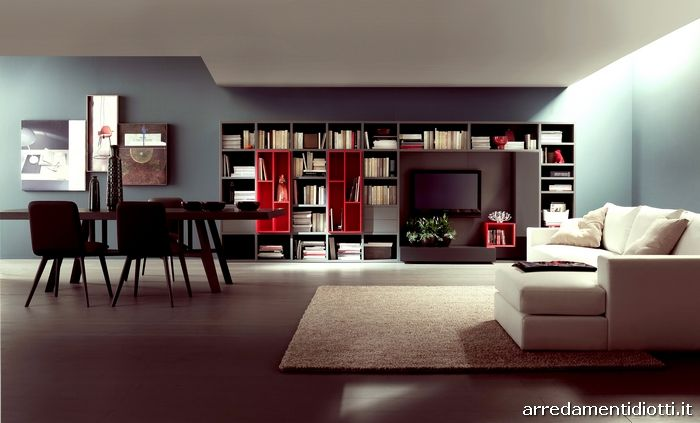 Mobili Diotti ~ Lounge libreria diotti a f arredamenti furniture