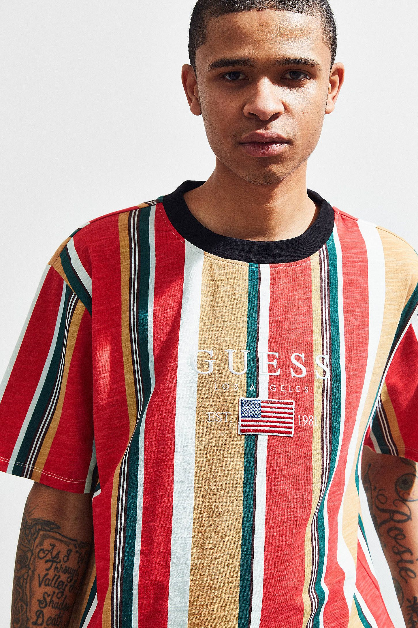 so cheap arriving cute GUESS David Sayer Stripe Tee   My Style   Striped tee, Mens ...