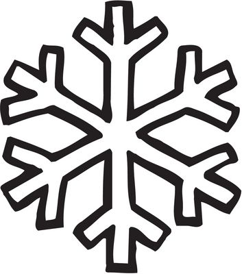 simple snowflake outline - Google Search | christmas ...