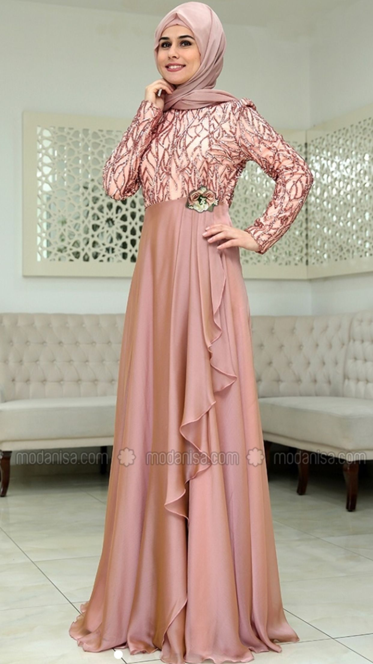 Model Baju Pesta Hijab 2020 : model, pesta, hijab, Desviana, Шитье, Model, Pakaian, Wanita,, Pesta,