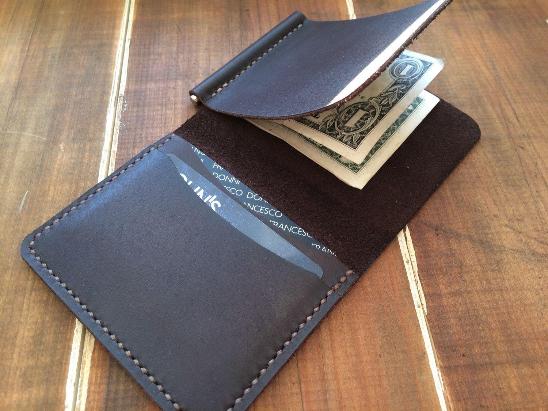 108123bd0612 Кожаный кошелек-зажим – купить в интернет-магазине на Ярмарке Мастеров с  доставкой