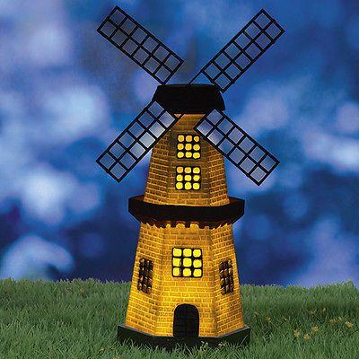 Solar Weihnachtsbeleuchtung Figuren.Solarzauber Windmühle Mit Solar Led Beleuchtung Für Garten Leuchte