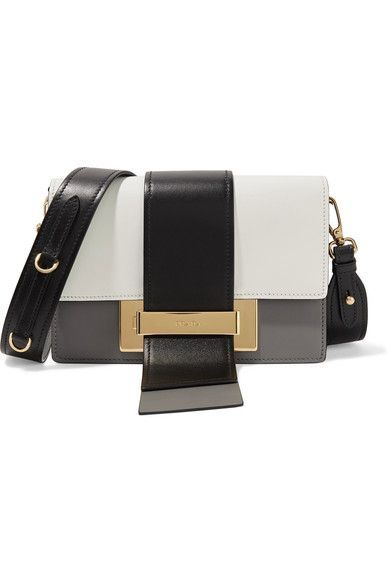 PRADA Ribbon Color-Block Leather Shoulder Bag.  prada  bags  shoulder bags   leather   5c95fe45116