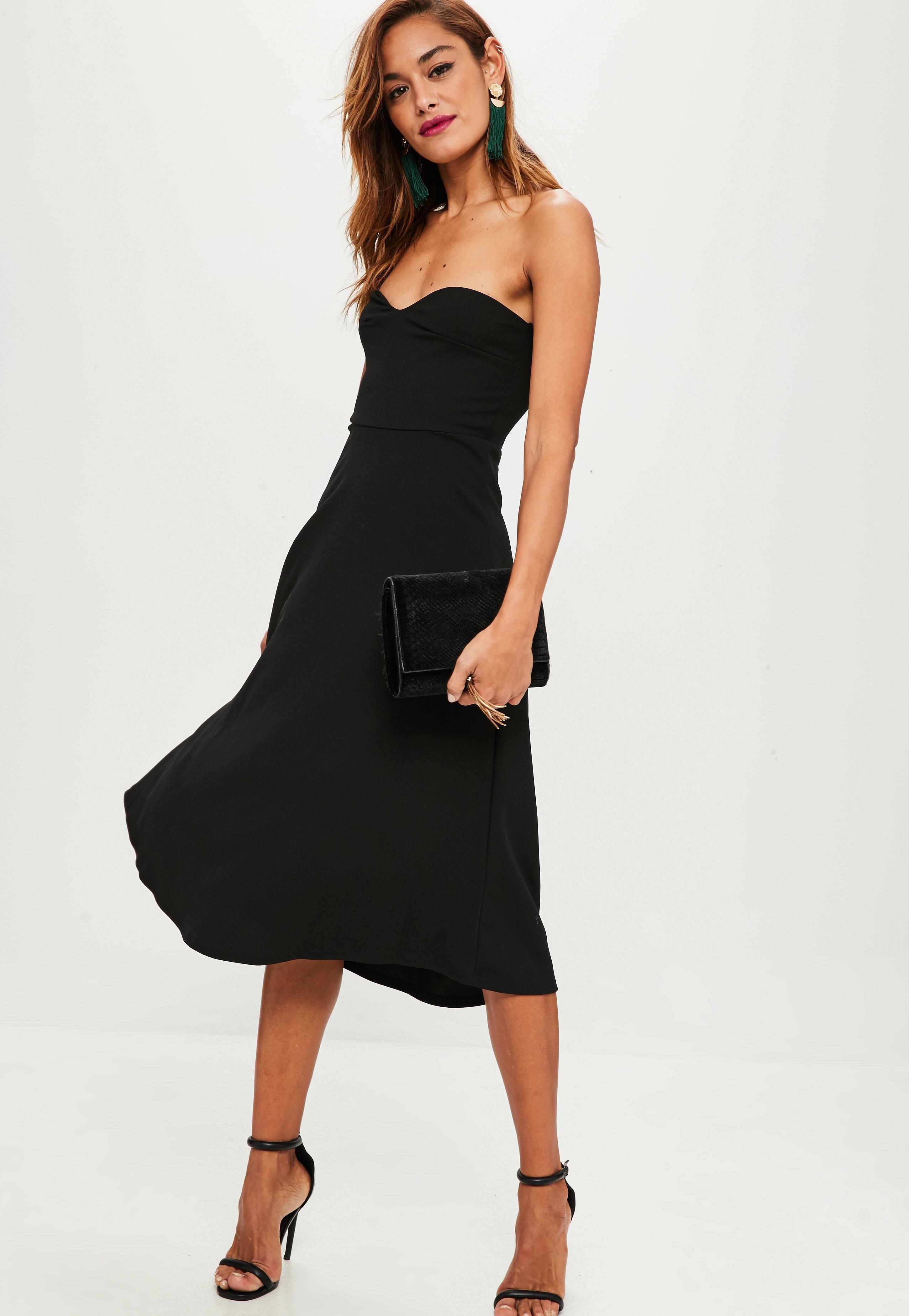 This Dress Features A Sweetheart Neckline Bandeau Shape And Midi Length Classy Dress Knee Length Midi Dresses Womens Dresses [ 4200 x 2900 Pixel ]