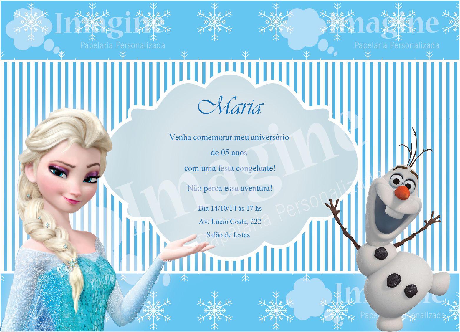 Aniversario De Texto: Texto Para Convite Da Frozen Para 1 Ano 1 3 Anos