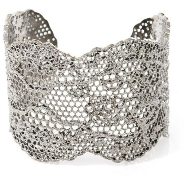 Lace Silver-plated Cuff - one size Aur iDhh3HOps3