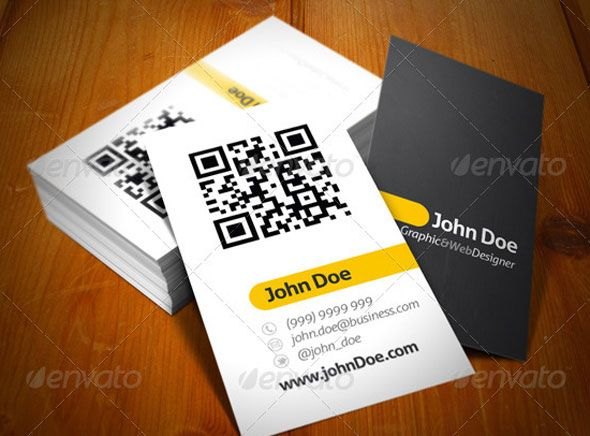 Qr code business card template acurnamedia qr colourmoves