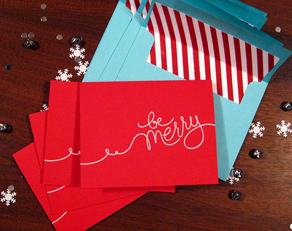 love the simplicity of these cards and the stripes on the inside of the envelopes
