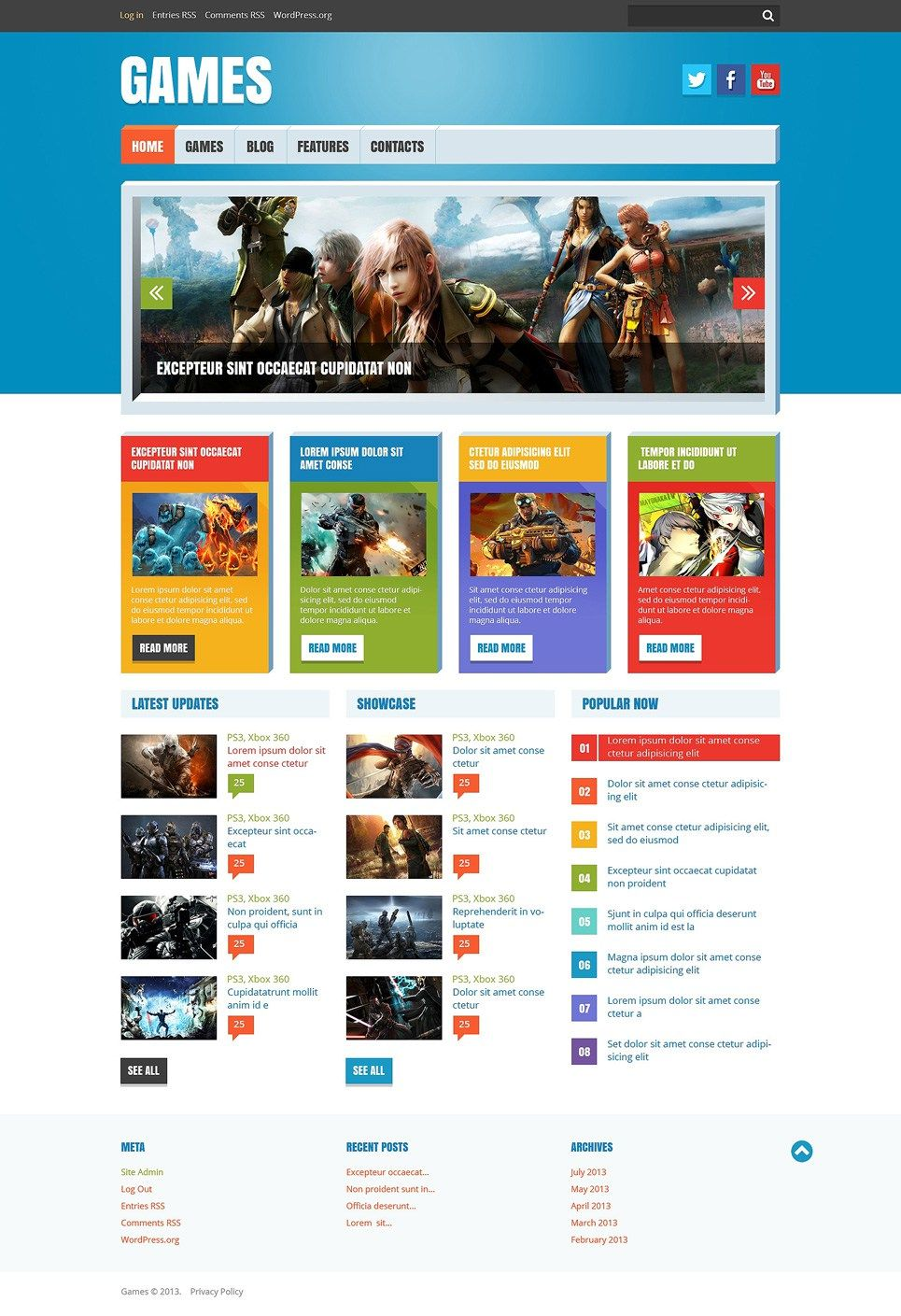 Video Games Gaming Blog Wordpress Themes With Images Blog Themes Wordpress Gaming Blog Wordpress Theme