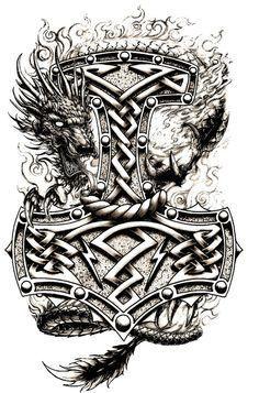 Hammer and Dragon Concept 3 by navyaerophys.deviantart.com on @deviantART