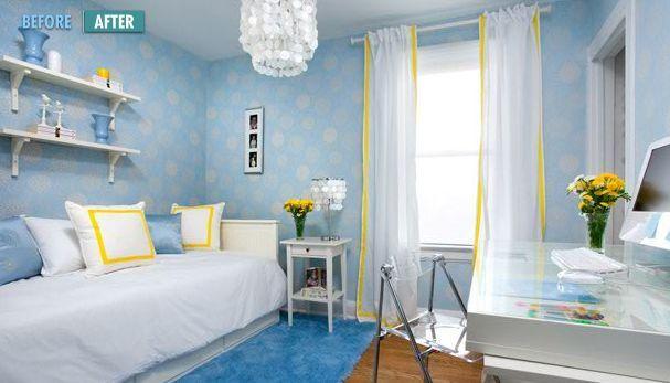 Image Result For Blue And Lemon Bedrooms