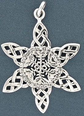 Celtic snowflake necklace