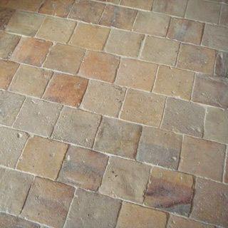 Terracotta Floor Tiles Antique Blanc Rose Stone Flooring