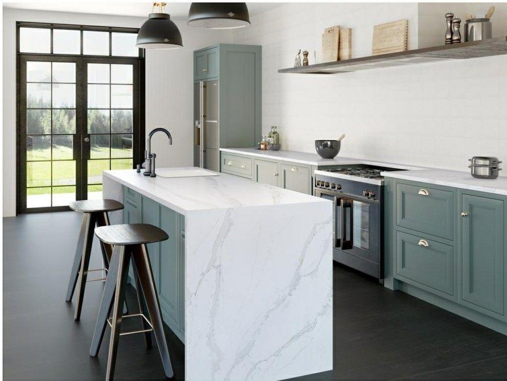 Quartz Countertop Calacatta Gold At Home Depot Kitchen Remodel