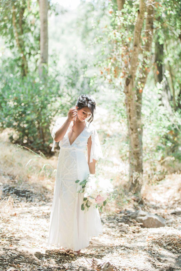 Woodland wedding dress  Valerie and Chrisus Condorus Nest Ranch Wedding  Ranch Lace