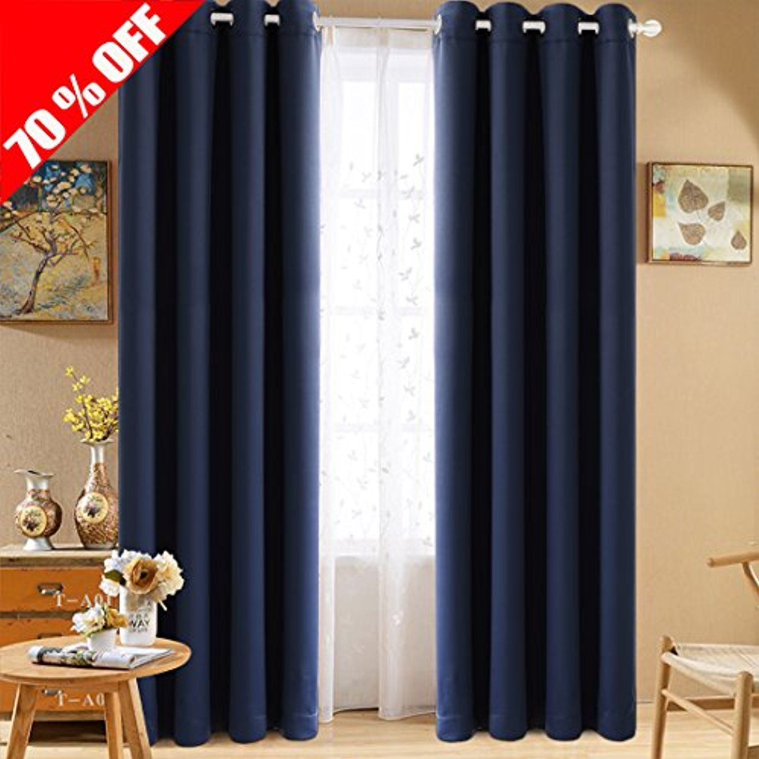 Fairyland blackout curtains and drapes thermal draperies insulated