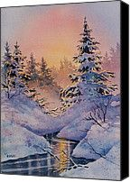 Winter Filigree Painting by Teresa Ascone - Winter Filigree Fine Art Prints and Posters for Sale