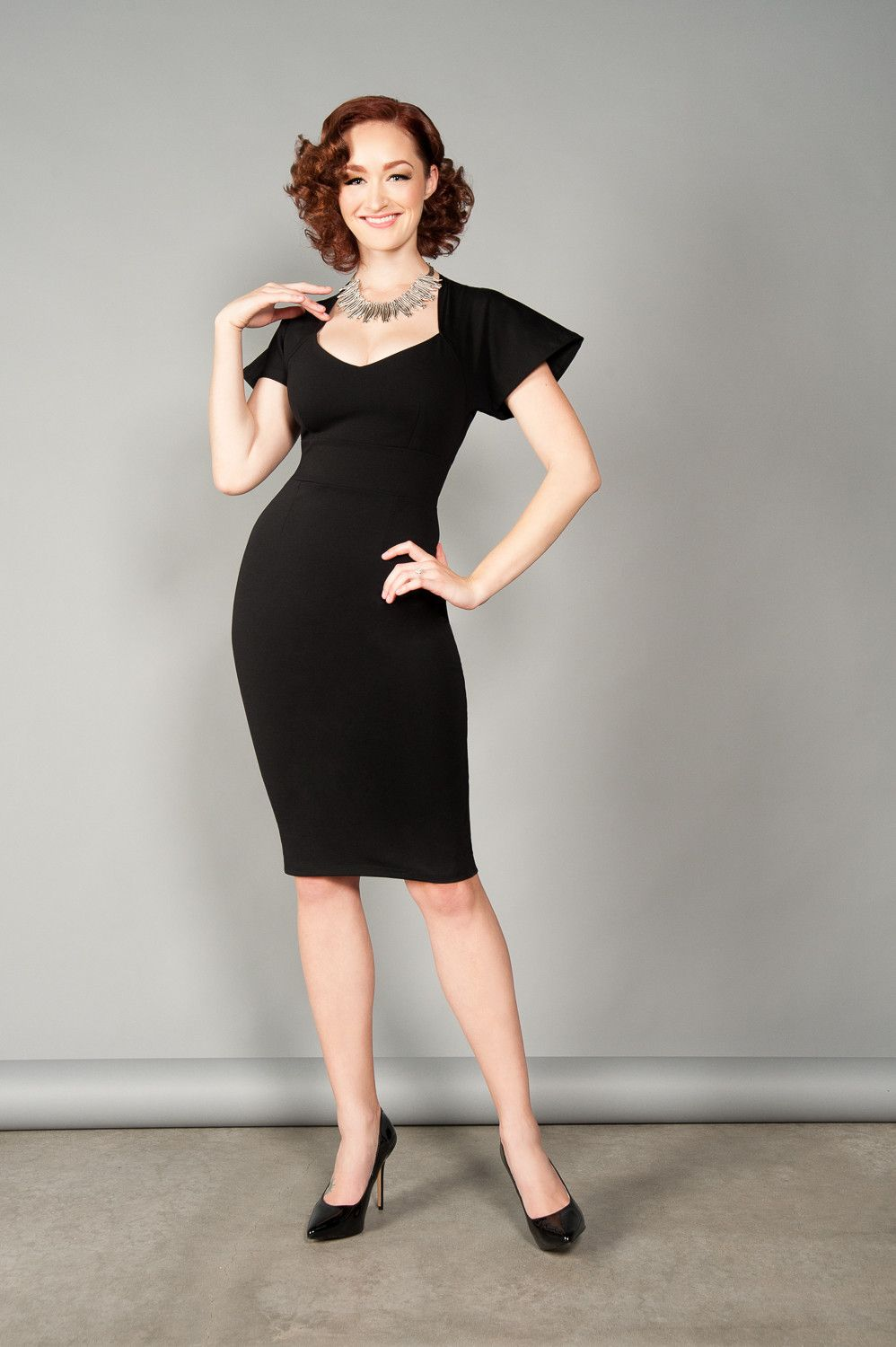 Pinup Couture Womens Black Fashionable Dress