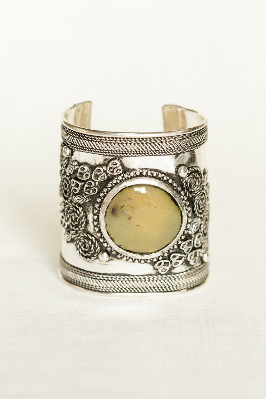 antiqued stone cuff