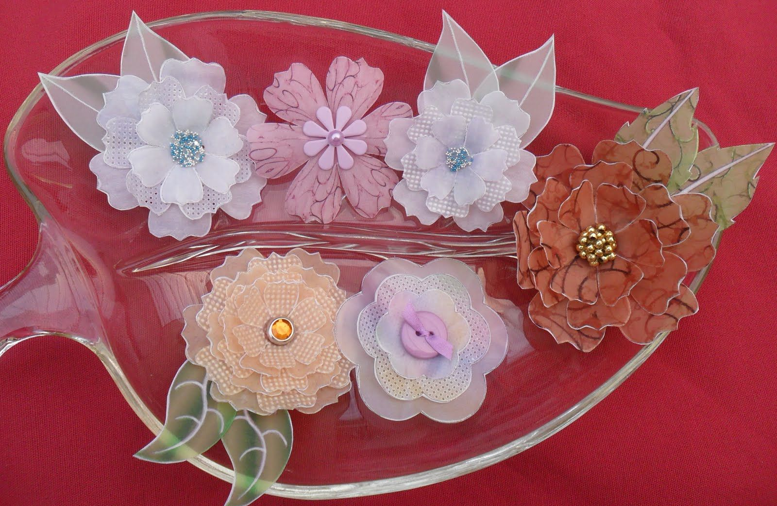 gorgeous paper flowers made with vellum