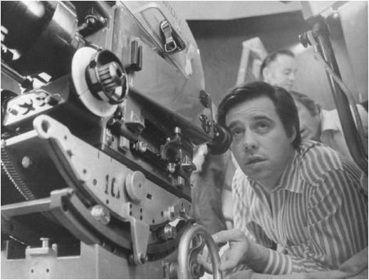 Peter Bogdanovich shooting What's Up, Doc?  (1972)