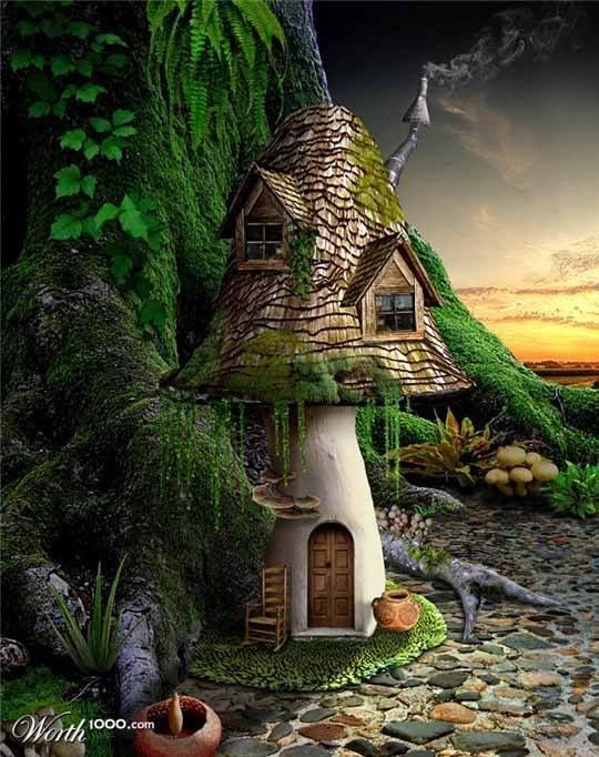 Fairy Home Com Imagens Casas De Fadas Jardim De Fadas Fadas