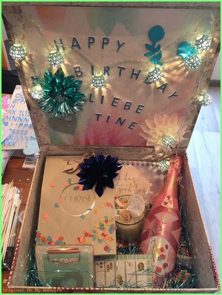 Geschenkideen für Freundin Geburtstagsbox Freundin #geschenkideenfreundinbasteln #giftsf