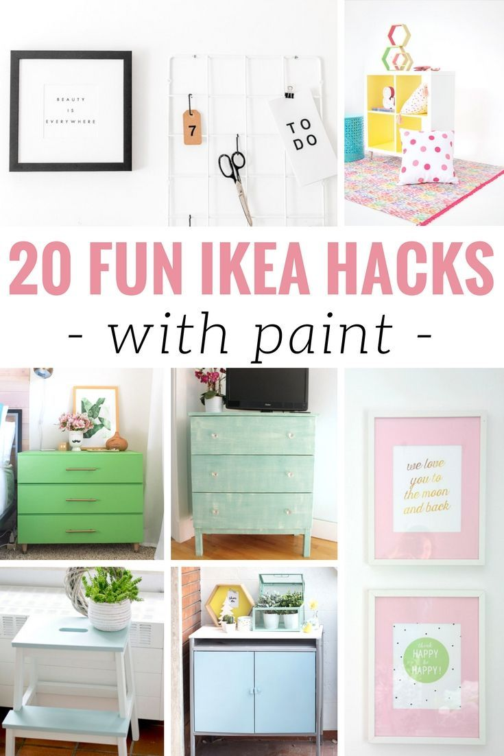 Fun DIY IKEA Hacks with Paint to Upgrade Your Home!   Painting hacks ...